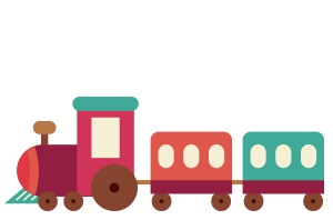 Illustration of a toy train